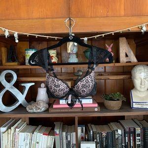 Victoria's Secret black lace bra